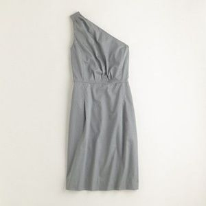 NWT J. Crew Factory Pleated One-Shoulder Dress